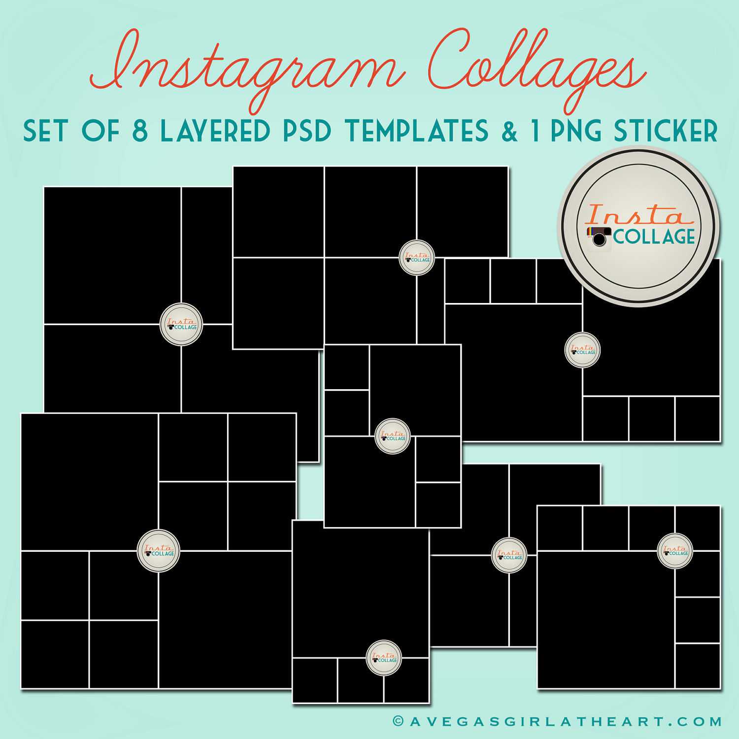 Instagram Collage Templates Psd