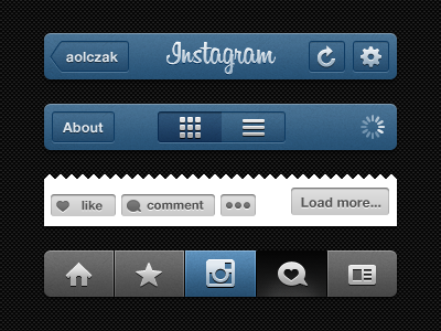 Instagram Frame Template PSD