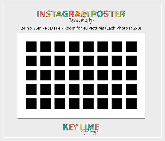 Instagram Photoshop Template