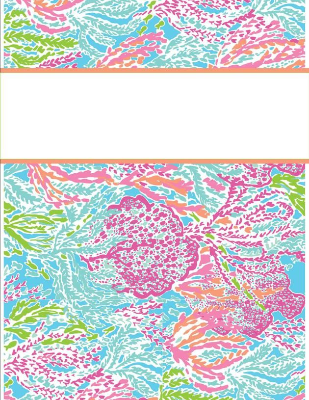 Lilly Binder Cover Templates