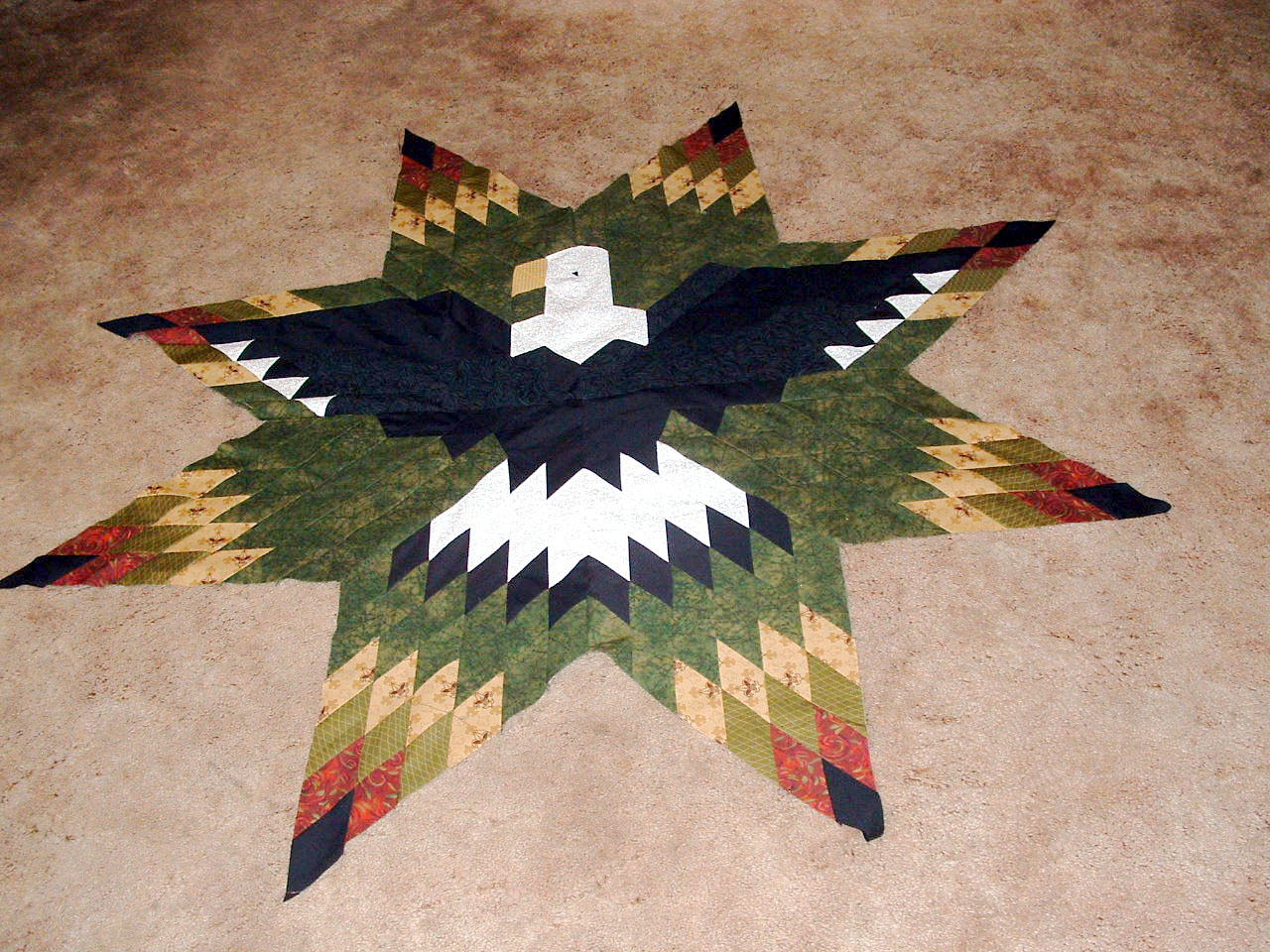 Lone Star Eagle Quilt Pattern