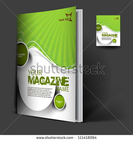 Magazine Cover Layout Design