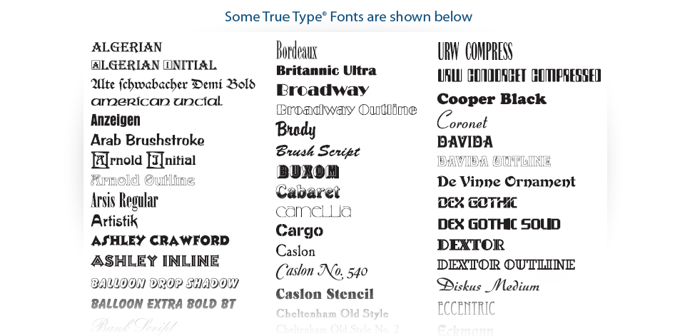 Usa font types images type styles fonts american