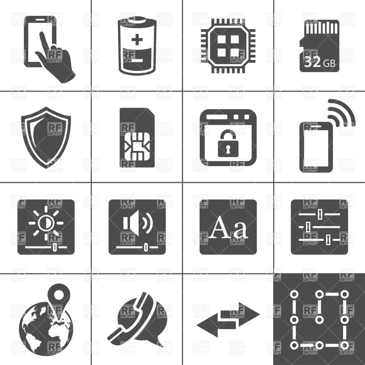 16 Phone And Tablet Icon Vector Images