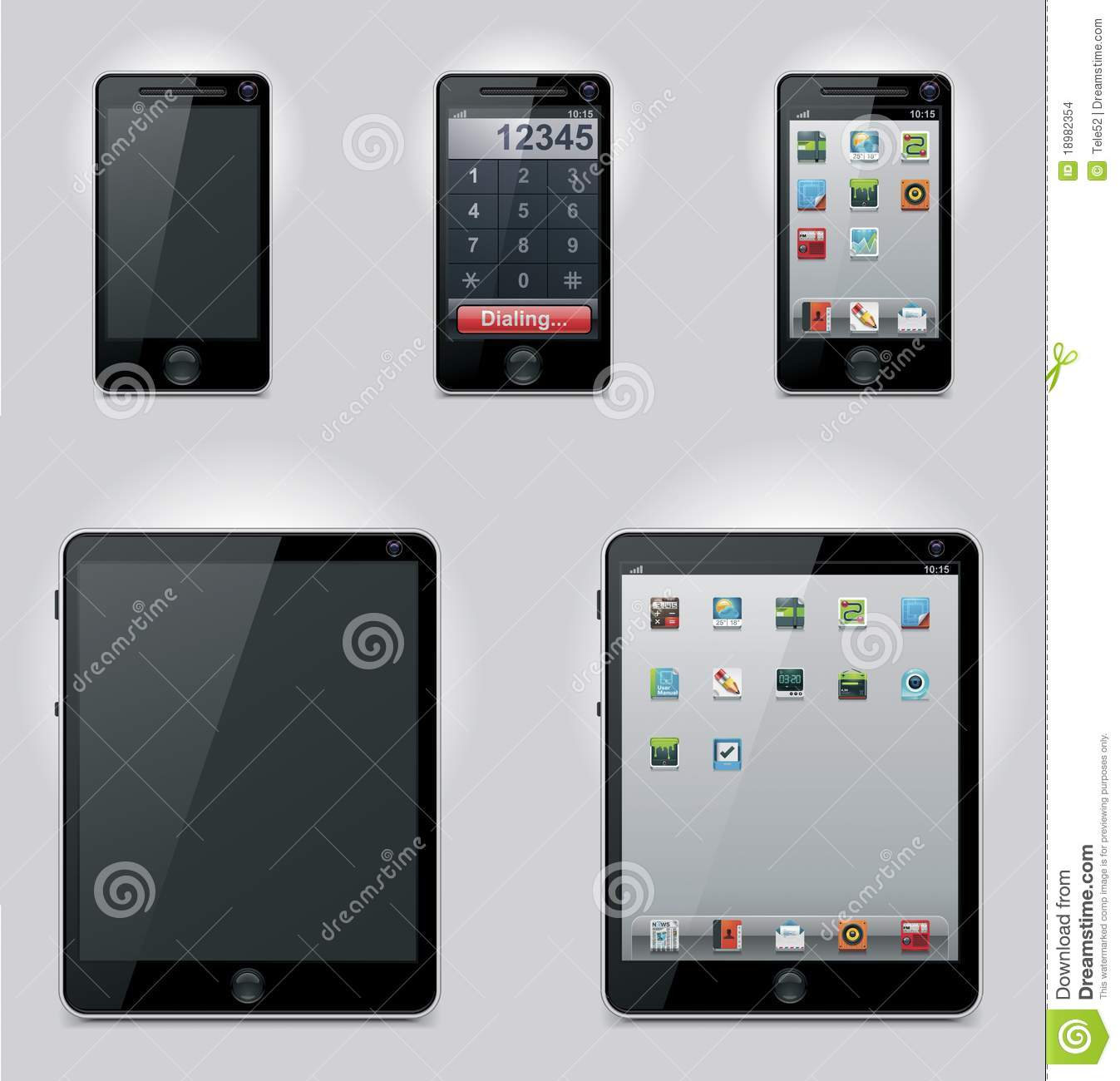 Mobile Icons Tablet Computer