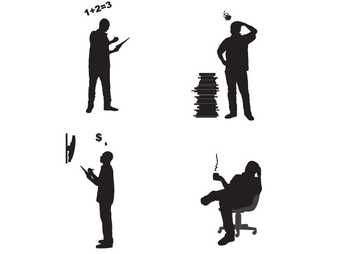 Office People Silhouette