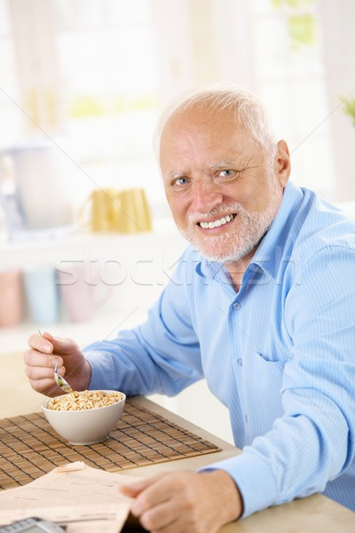 Old Man-Eating Stock-Photo