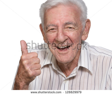 Old White Man Thumbs Up