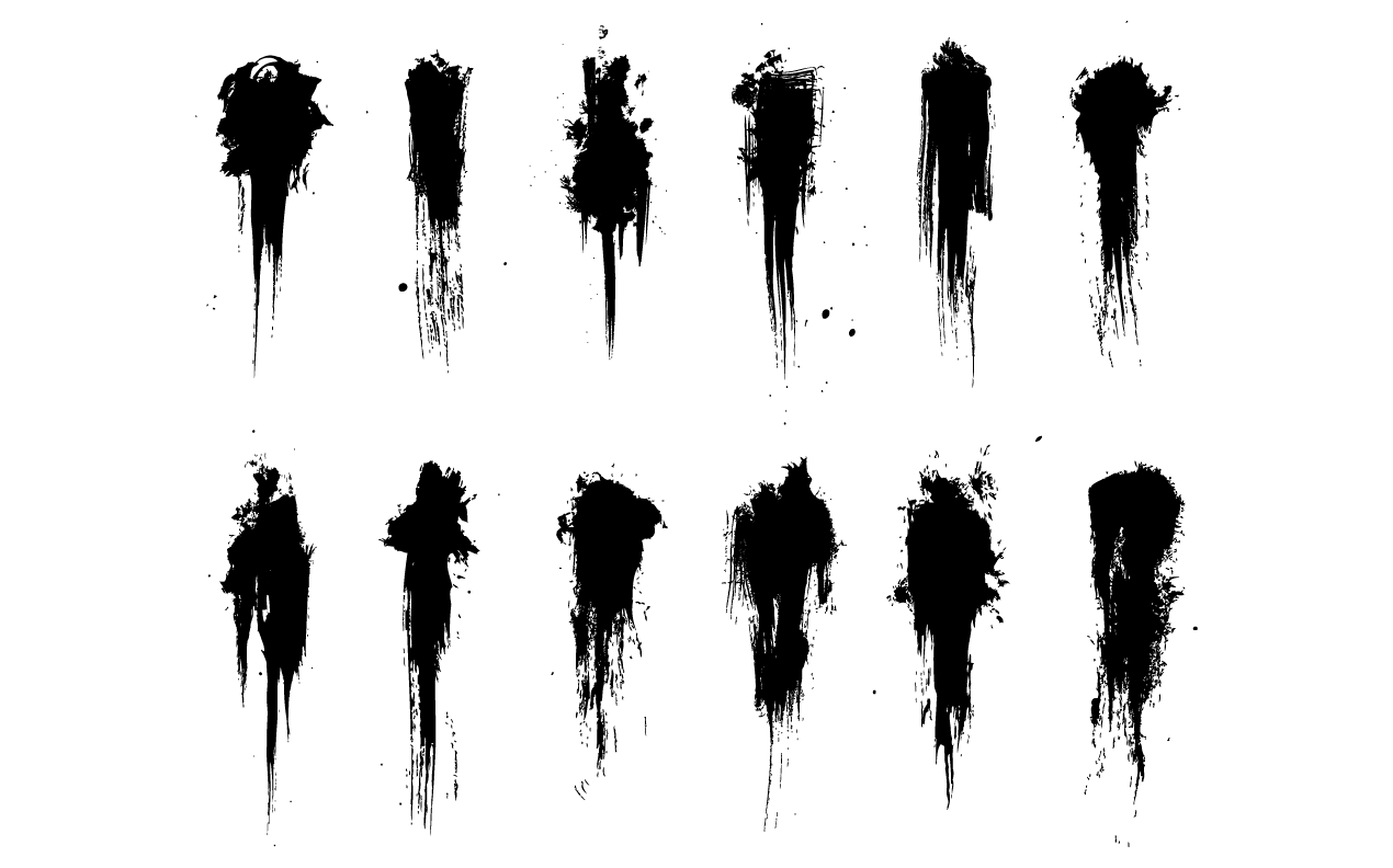 9 Vector Grunge Brushes Images