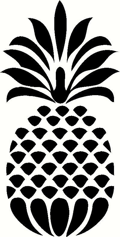 Pineapple Die Cut Vinyl Decal PV733 for Windows