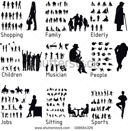 Plan View Person Silhouette Vector