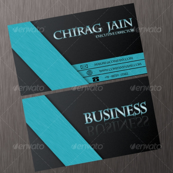 7 professional business card design images business card for Professional business card examples