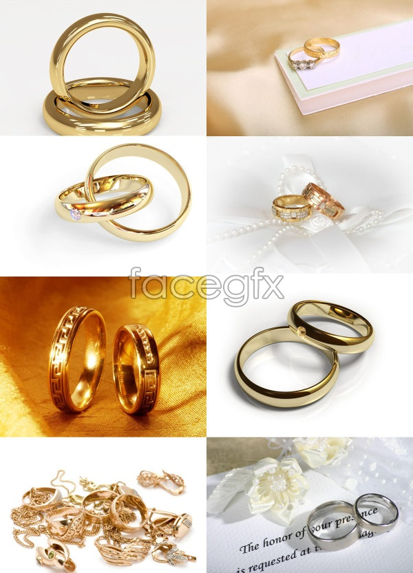 PSD Gold Wedding Rings