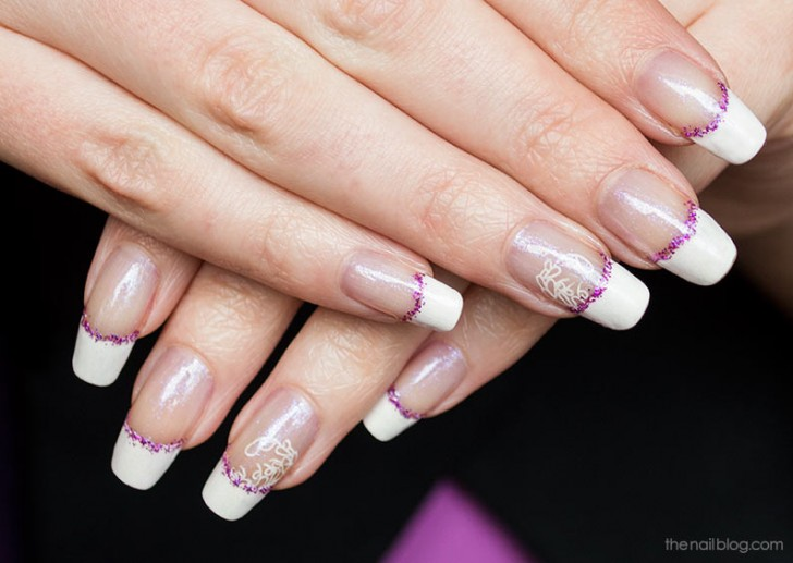12 White French Tip Nail Designs Purple Images