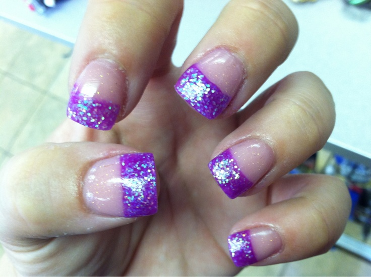 12 White French Tip Nail Designs Purple Images Purple French