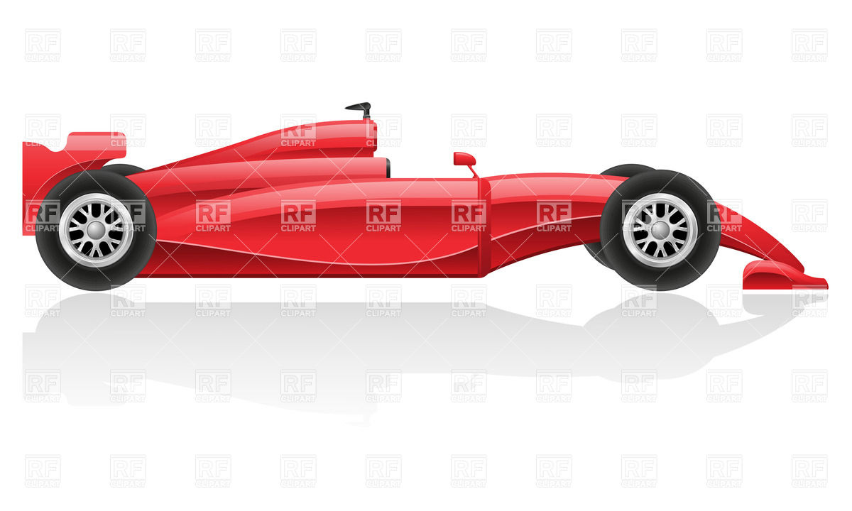 8 Red Racing Cars Vector Images