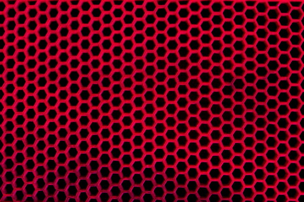 Red and Black Hexagon Pattern