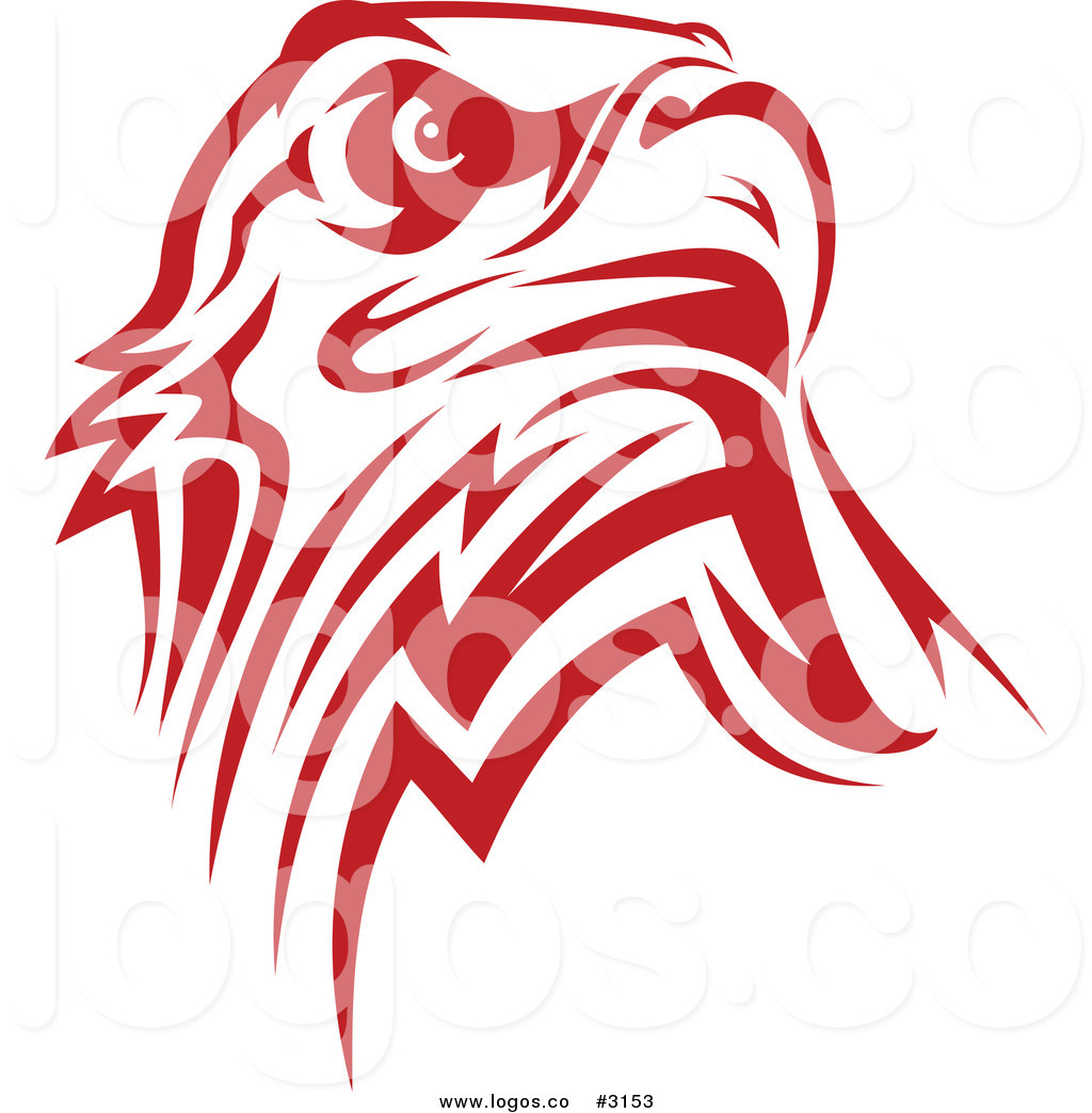 Red and White Eagle Head Logo