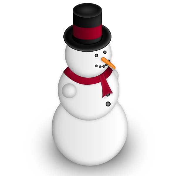 7 Layered Photoshop PSD Snowman Images