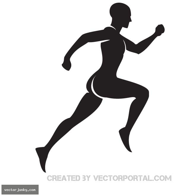 11 Runner Silhouette Vector Art Images