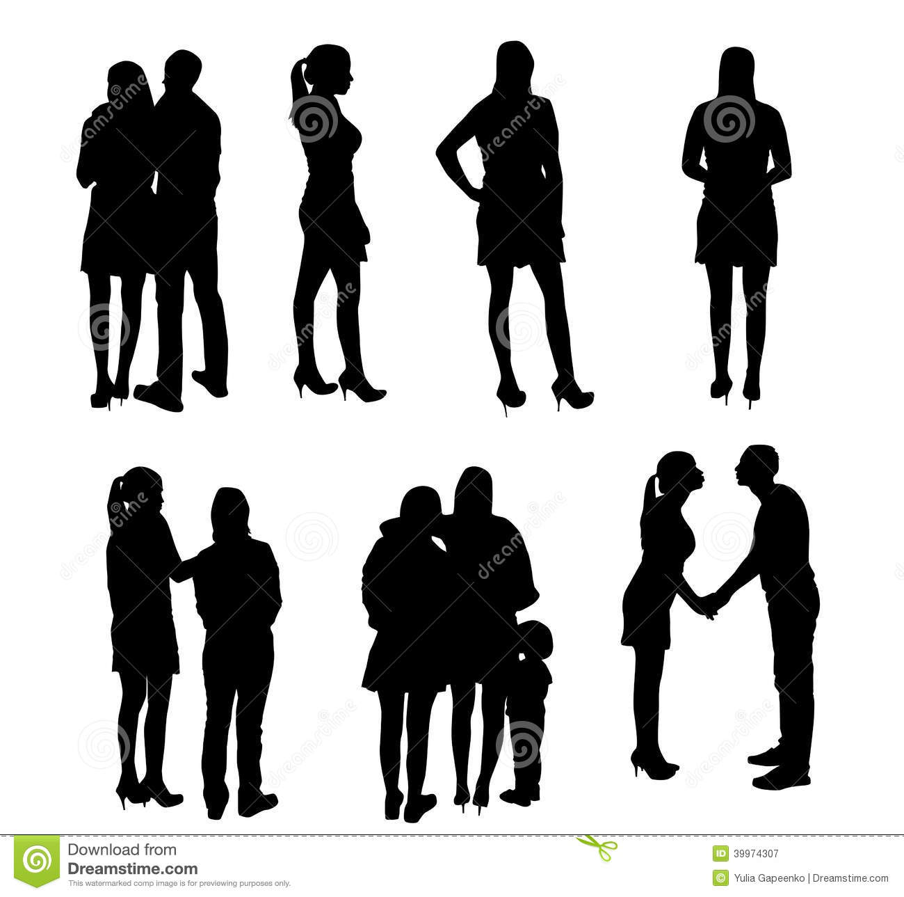 Silhouette People Vector Illustrations