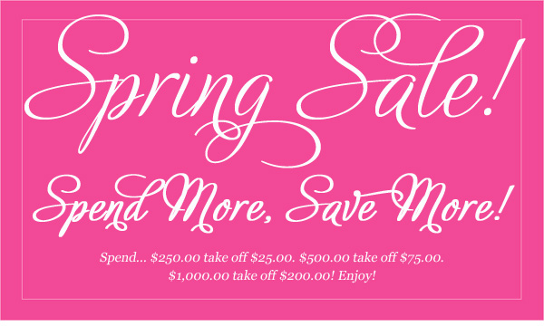 6 Spring Sale Web Graphics Images