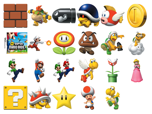 Super Mario Game Characters