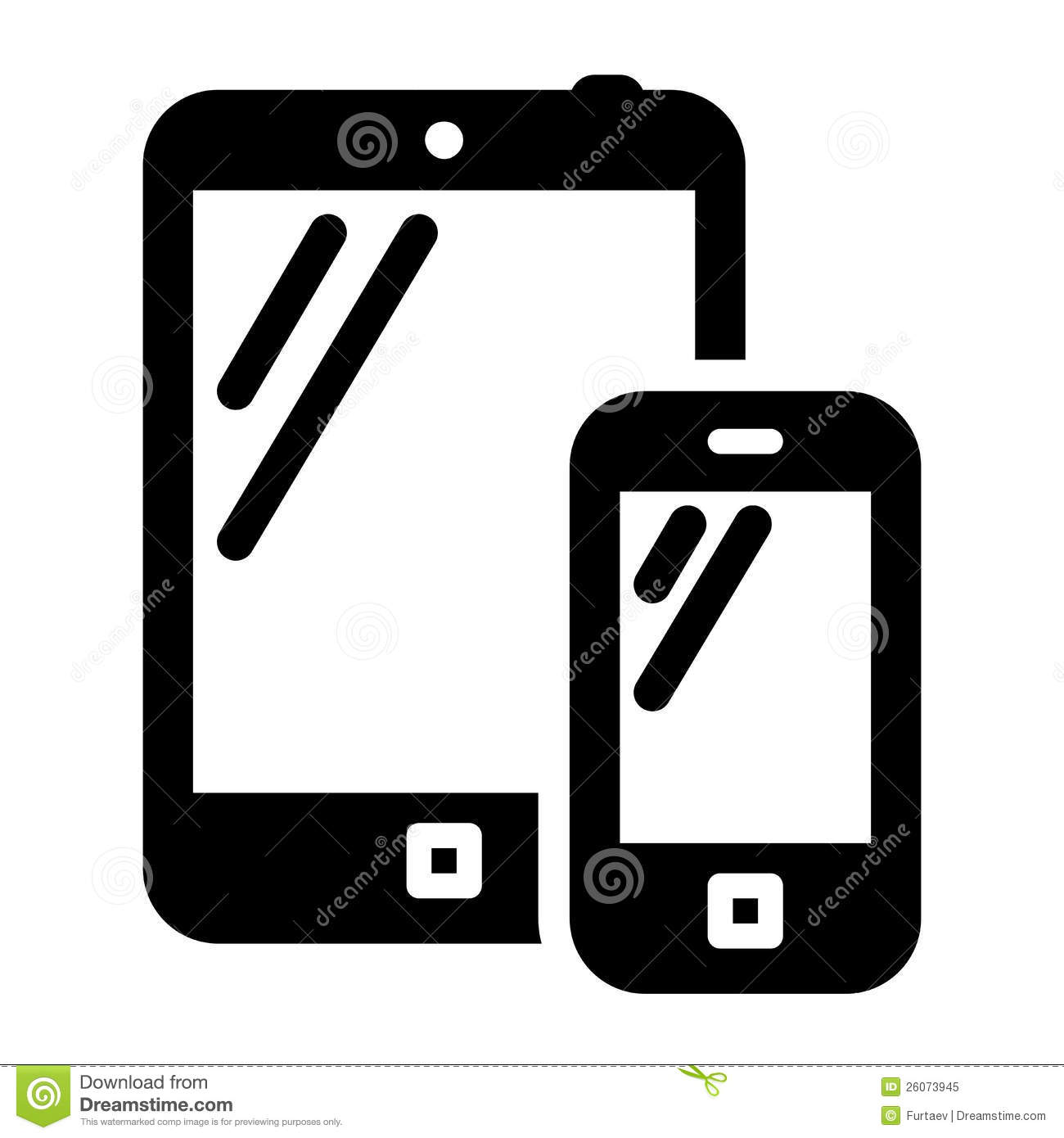Tablet and Phone Icon Vector
