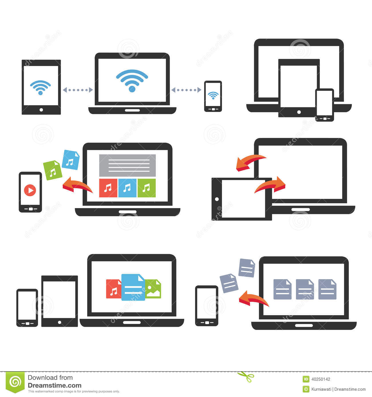 Tablet Mobile Devices Icons