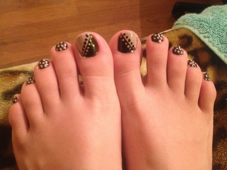 8 Polka Dot Toe Nail Designs Images