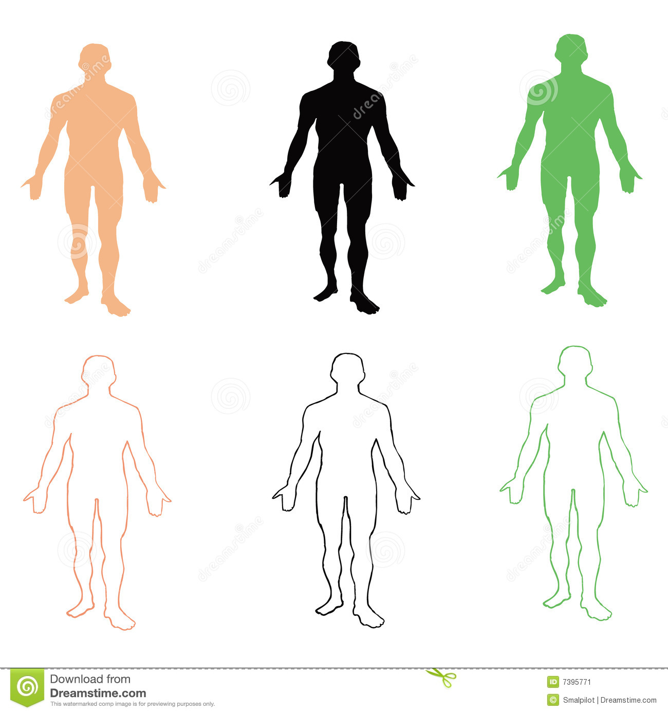 Vector People Silhouettes Man