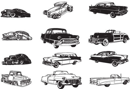Vintage Car Vector Art