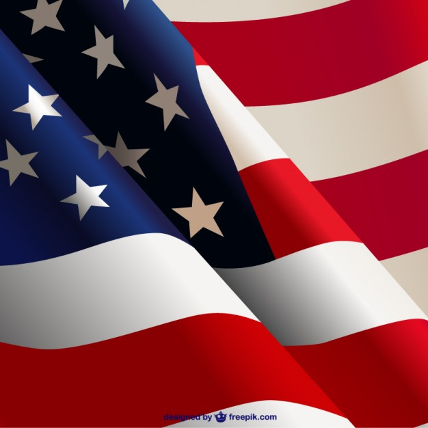 13 American Flag Waving Vector Images