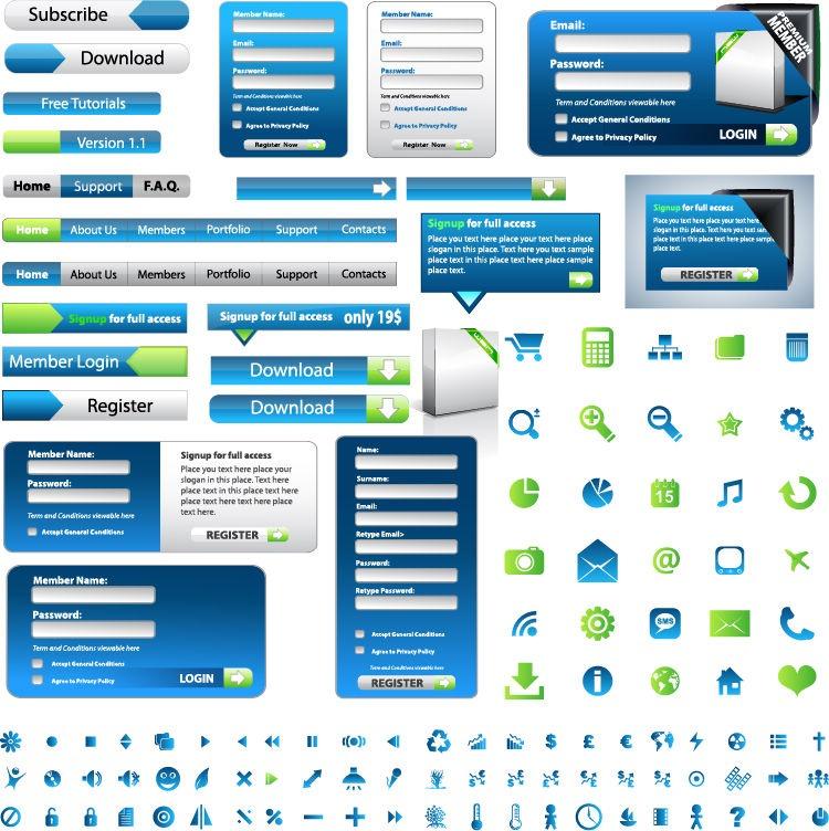 Web Design Elements Vectors