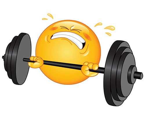 Weight Lifting Emoticons