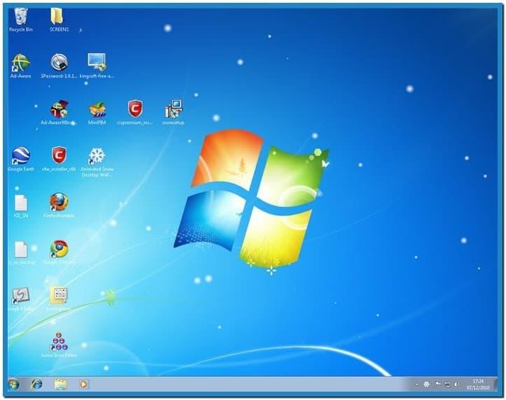 Windows 7 Animated Screensavers Snow