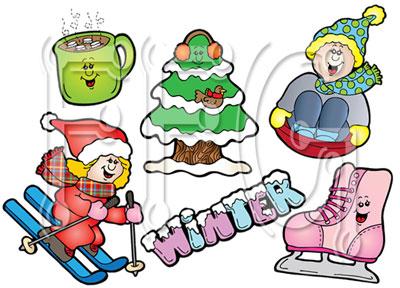Winter Family Clip Art