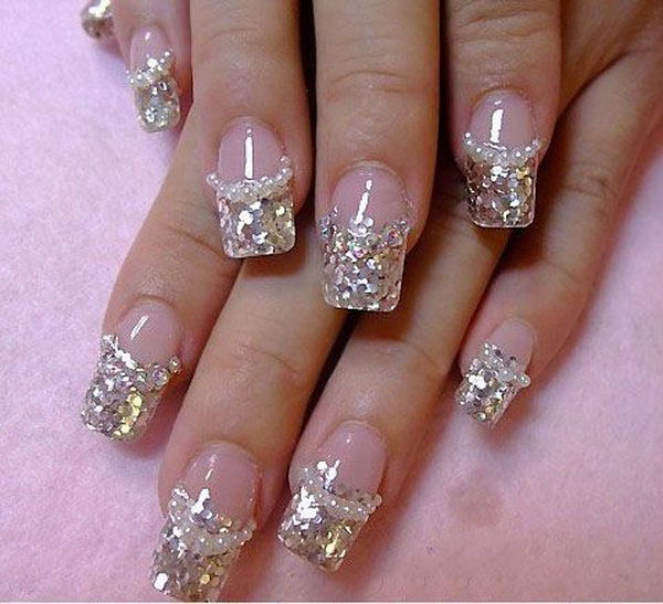14 Diamonds Nail Art Design Ideas Images - Purple Nail Designs with ...