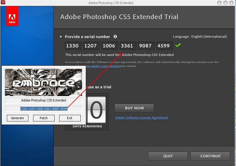 Adobe Photoshop CS5 extended esoftner keygen