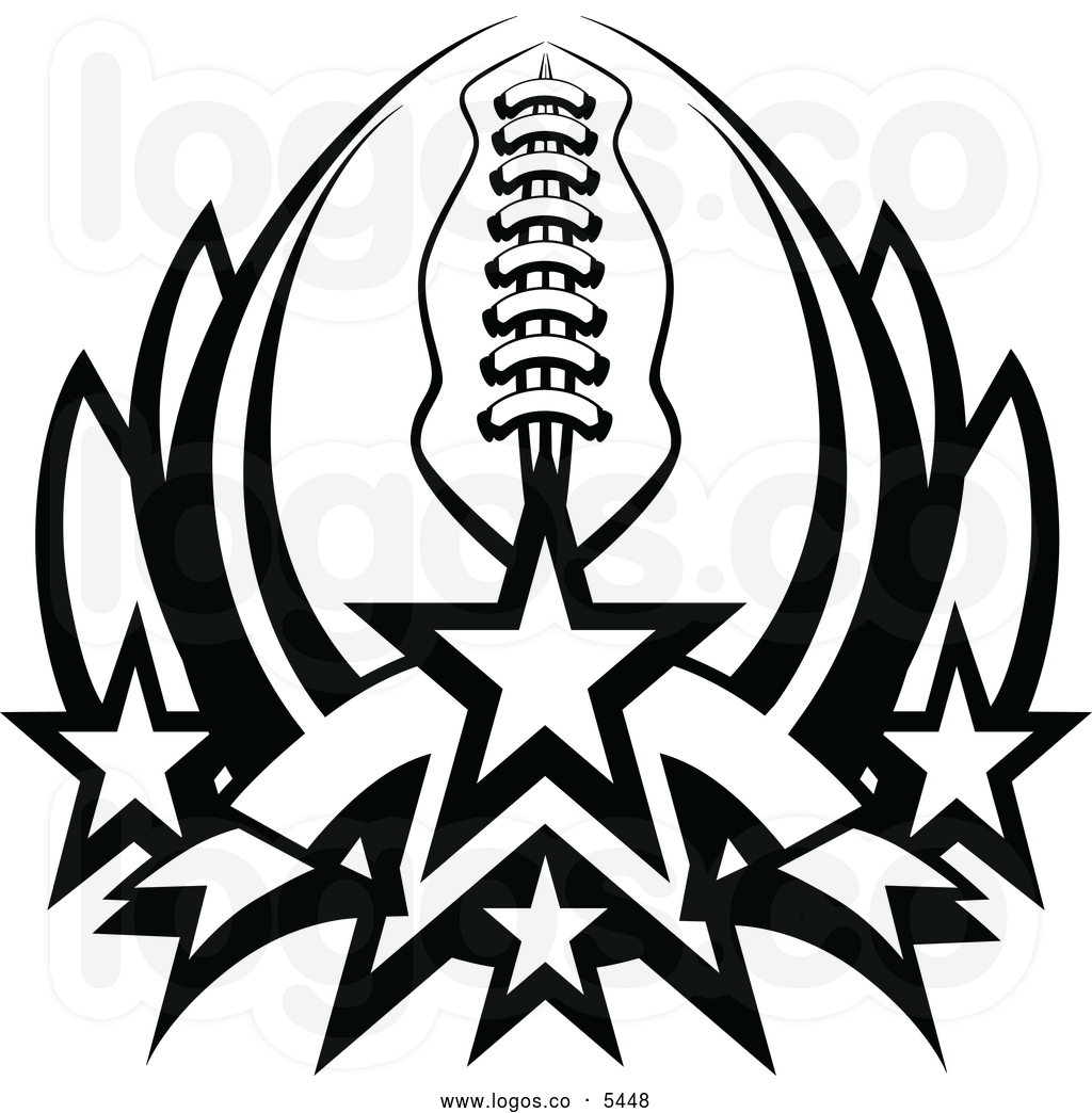 American Football Clip Art Black and White