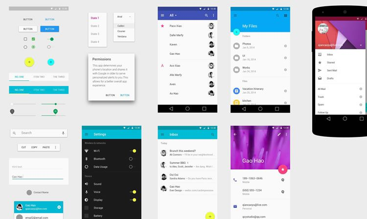 Android Design Template Material