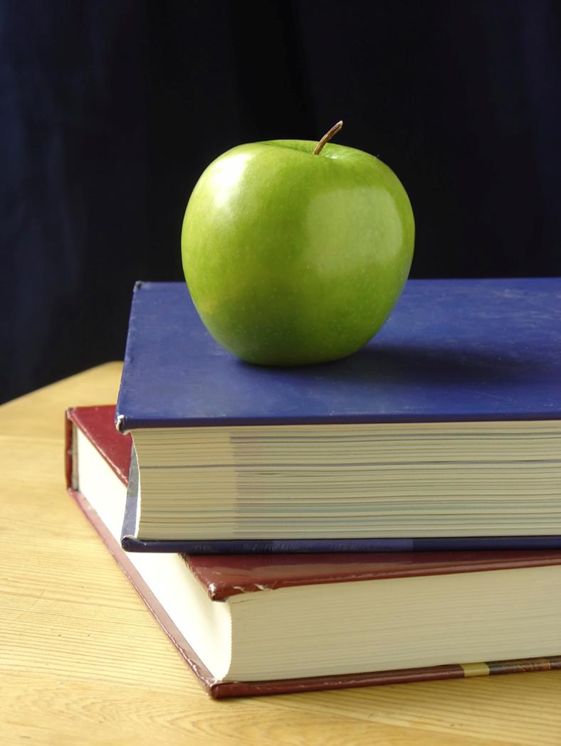 Apple Book and School Teacher