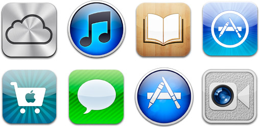 Apple iPad App Icons