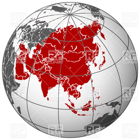 16 Asia Map Clip Art Vector Images