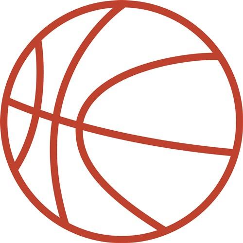 Basketball Outline Vector Art