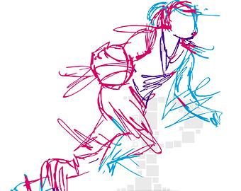 Basketball Screen Printing Vector
