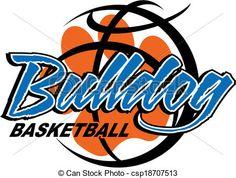 Bulldog Basketball Clip Art