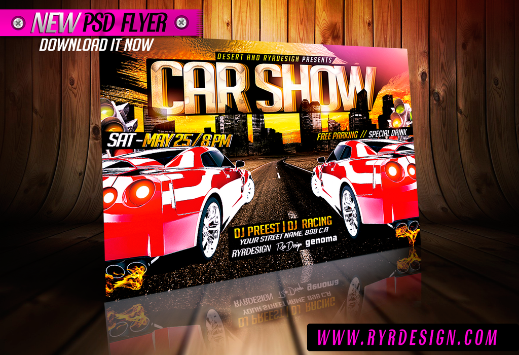PSD Car Flyer Images Car Wash Flyer Template Car Rental Flyer - Free car show flyer template