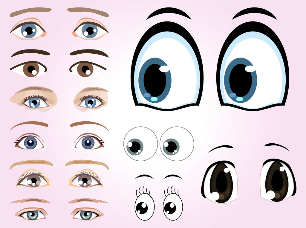 Cartoon Eye Vector Graphics