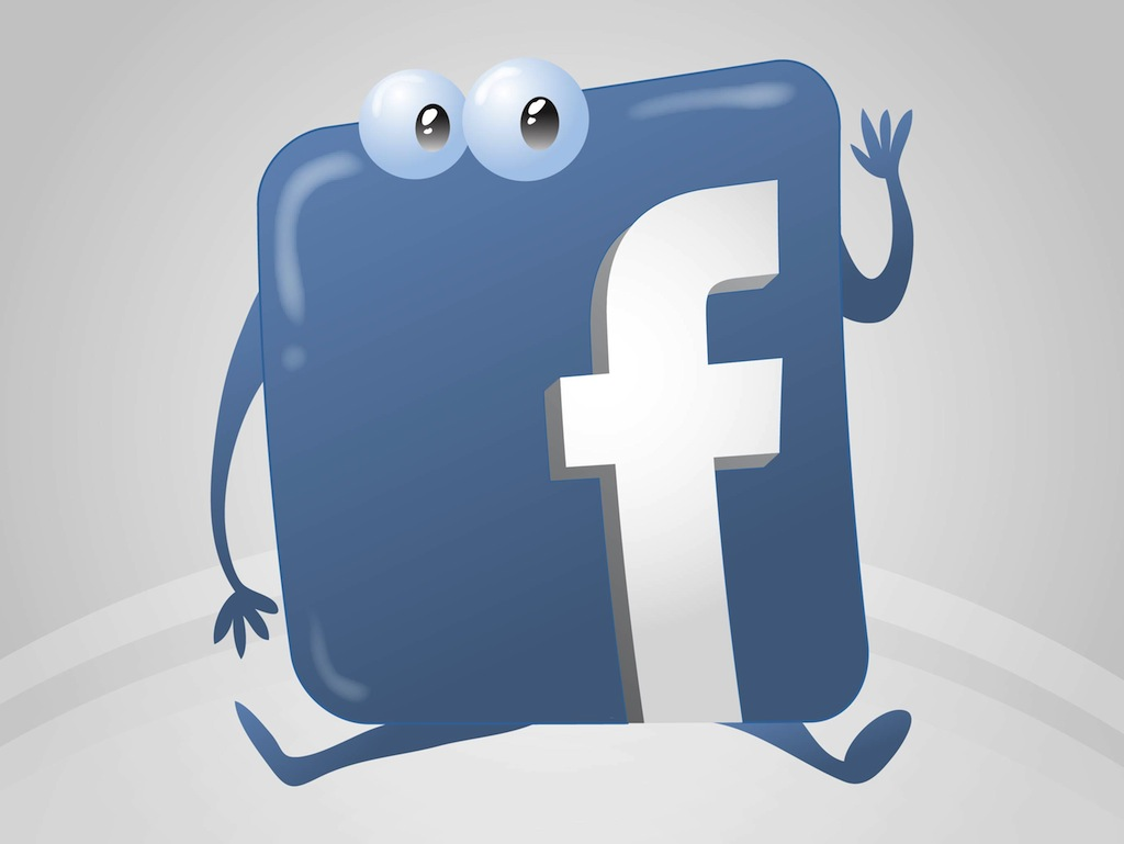 14 Cartoon Free Vector Facebook Logo Images
